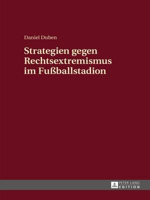 cover image of Strategien gegen Rechtsextremismus im Fußballstadion
