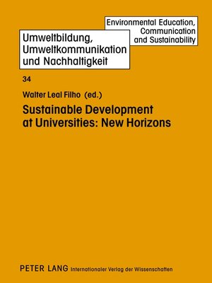 cover image of Sustainable Development at Universities