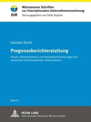 cover image of Prognoseberichterstattung
