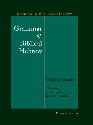 cover image of Grammar of Biblical Hebrew