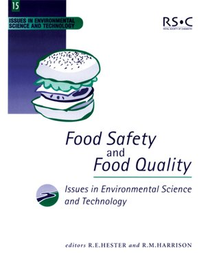 cover image of Food Safety and Food Quality