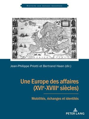 cover image of Une Europe des affaires (XVIe-XVIIIe siècles)