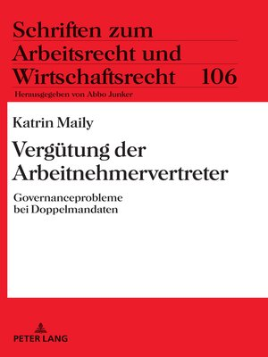 cover image of Verguetung der Arbeitnehmervertreter