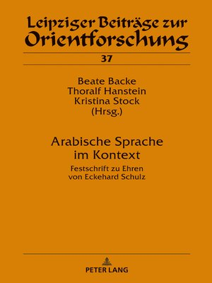 cover image of Arabische Sprache im Kontext