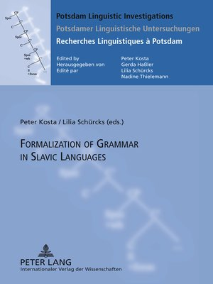 cover image of Formalization of Grammar in Slavic Languages