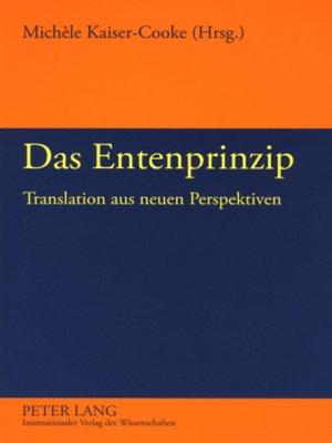 cover image of Das Entenprinzip