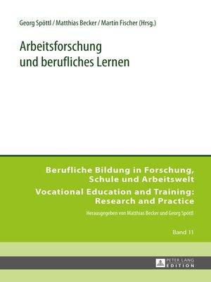 cover image of Arbeitsforschung und berufliches Lernen