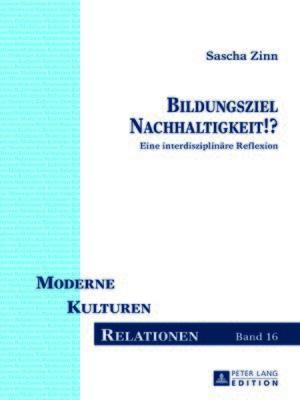 cover image of Bildungsziel Nachhaltigkeit!?