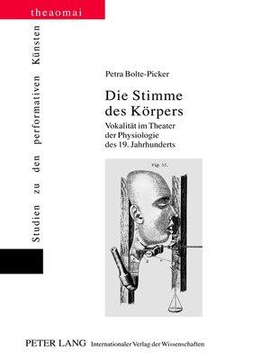cover image of Die Stimme des Koerpers