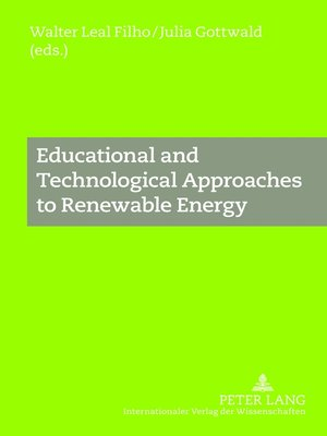 cover image of Educational and Technological Approaches to Renewable Energy