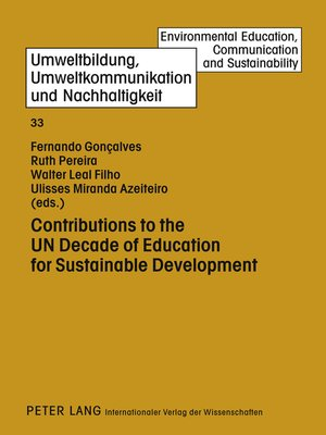 cover image of Contributions to the UN Decade of Education for Sustainable Development