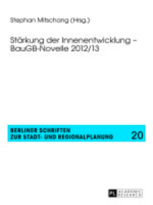 cover image of Staerkung der Innenentwicklung  BauGB-Novelle 2012/13