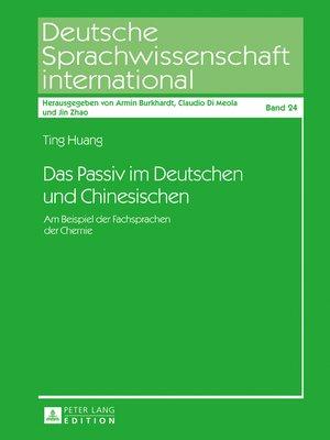 cover image of Das Passiv im Deutschen und Chinesischen