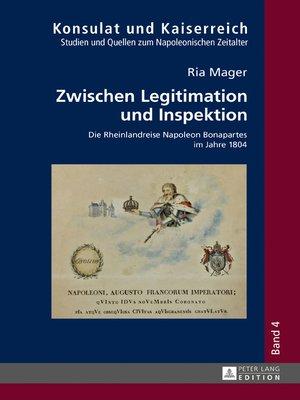 cover image of Zwischen Legitimation und Inspektion