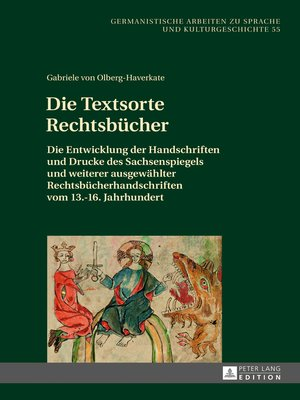 cover image of Die Textsorte Rechtsbuecher