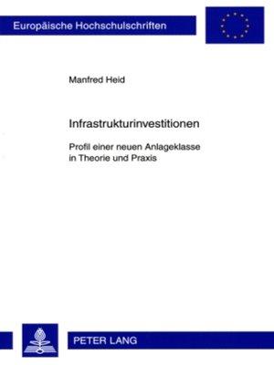cover image of Infrastrukturinvestitionen