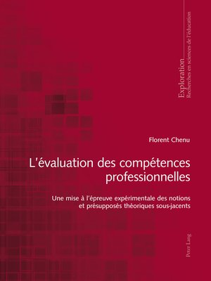 cover image of Lévaluation des compétences professionnelles