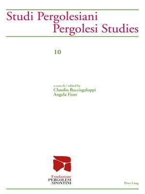 cover image of Studi Pergolesiani- Pergolesi Studies