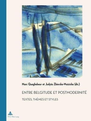 cover image of Entre belgitude et postmodernité