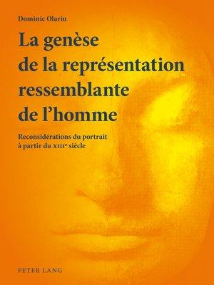 cover image of La genèse de la représentation ressemblante de lhomme