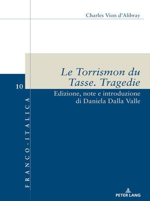 cover image of Le Torrismon du Tasse. Tragedie