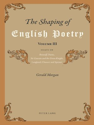 cover image of The Shaping of English Poetry- Volume III