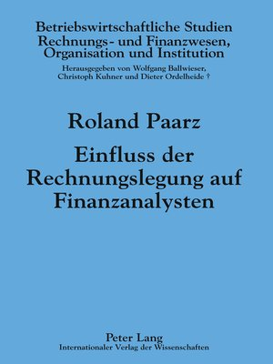 cover image of Einfluss der Rechnungslegung auf Finanzanalysten