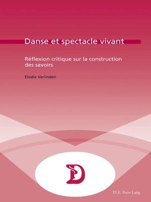 cover image of Danse et spectacle vivant