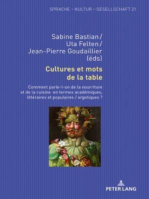 cover image of Cultures et mots de la table