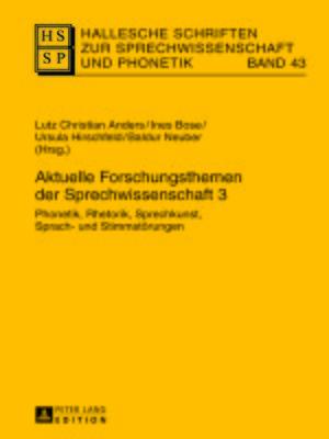 cover image of Aktuelle Forschungsthemen der Sprechwissenschaft 3