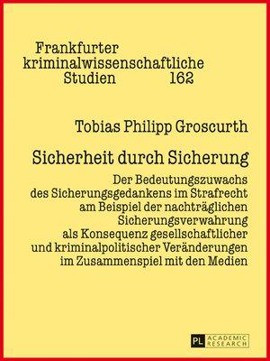 cover image of Sicherheit durch Sicherung