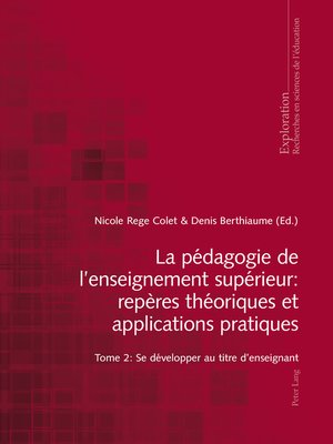 cover image of La pédagogie de l'enseignement supérieur