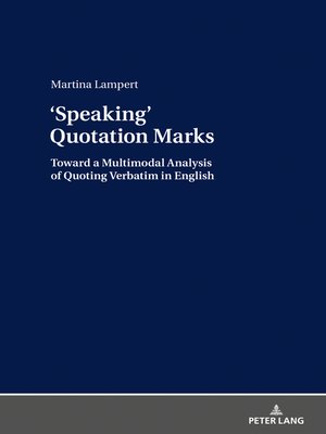 cover image of Speaking› Quotation Marks