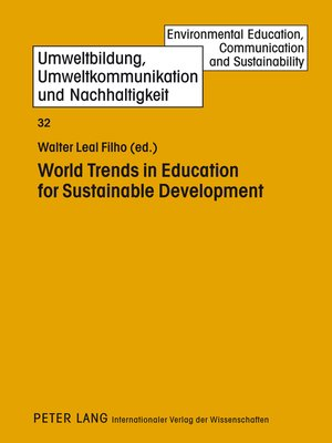 cover image of World Trends in Education for Sustainable Development
