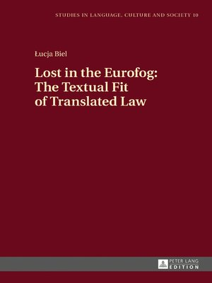 cover image of Lost in the Eurofog