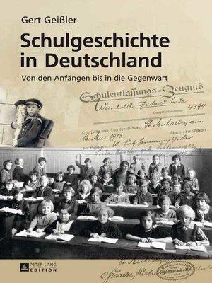 cover image of Schulgeschichte in Deutschland
