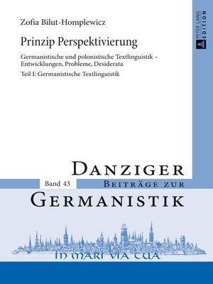 cover image of Prinzip Perspektivierung