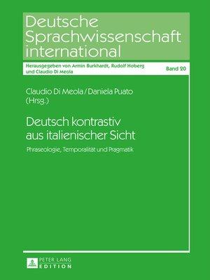 cover image of Deutsch kontrastiv aus italienischer Sicht