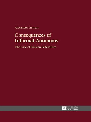cover image of Consequences of Informal Autonomy