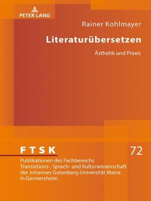 cover image of Literaturuebersetzen