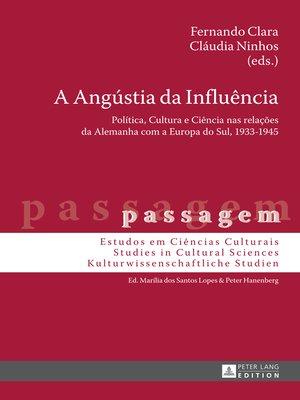 cover image of A Angústia da Influência