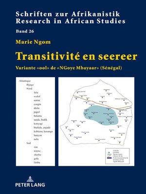 cover image of Transitivité en seereer