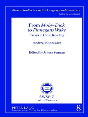 cover image of From «Moby-Dick» to «Finnegans Wake»
