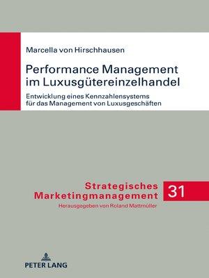 cover image of Performance Management im Luxusguetereinzelhandel
