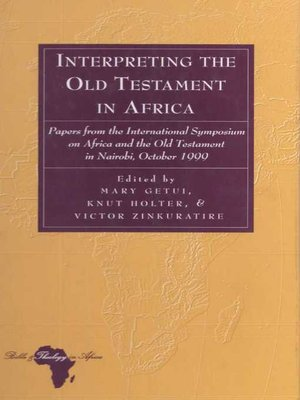 cover image of Interpreting the Old Testament in Africa