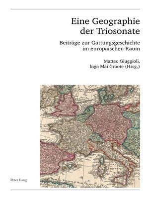 cover image of Eine Geographie der Triosonate