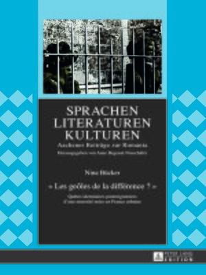 cover image of « Les geôles de la différence ? »