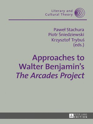 cover image of Approaches to Walter Benjamins «The Arcades Project»