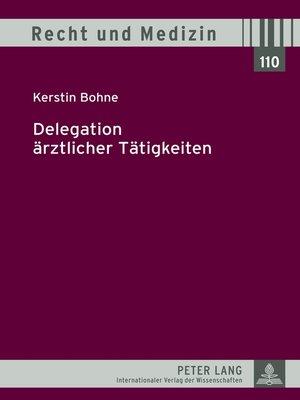 cover image of Delegation aerztlicher Taetigkeiten