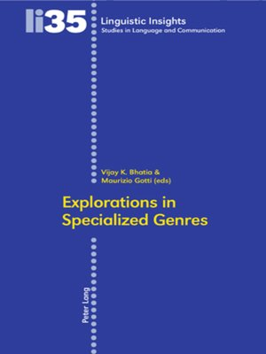 cover image of Explorations in Specialized Genres